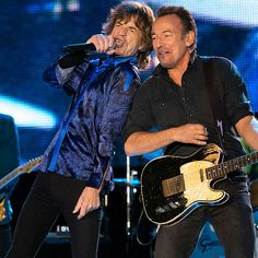 7 incredible photos of Rolling Stones + Bruce Springsteen together on stage