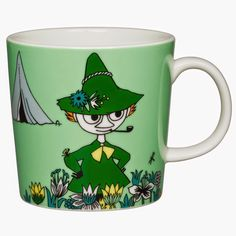 Moomin Mug Snufkin New 2015 Green Arabia