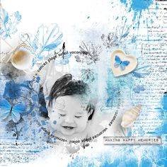layout using Summer Time Word Art and Word Tag by florju designs