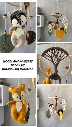 Felt Animal Patterns, Stuffed Animal Patterns, Baby Crib Mobile, Baby Cribs, Pet Toys, Baby Toys, Mobiles, Hanging Crib, Gifts For New Mothers
