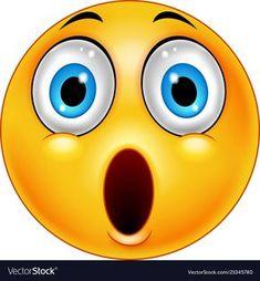 Surprised emoticon smiley vector image on VectorStock Smileys, New Emoticons, Funny Emoji Faces, Silly Faces, Happy Wallpaper, Emoji Wallpaper, Excited Emoticon, Fanny Photos, Crying Emoji
