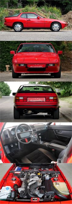 1988 Porsche 924S in Guards Red