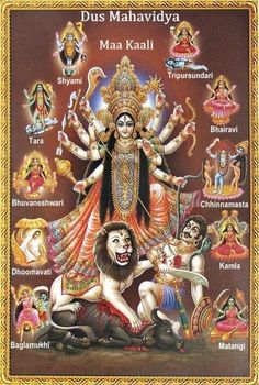 """Kālī also known as Kālikā is the Hindu goddess associated with empowerment, shakti. The name Kali comes from kāla, which means black, time, death, lord of death, Shiva. Since Shiva is called Kāla—the eternal time—Kālī, his consort, also means """"Time"""" or """"Death"""" (as in time has come)."""