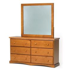 Chelsea Home 6 Drawer Dresser with Mirror