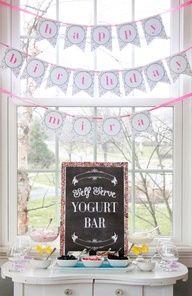 Slumber Party Ideas ~ Yogurt Bar + uplifting party ideas for your tween #slumberpartyideas #tweenparty #teenpartyideas