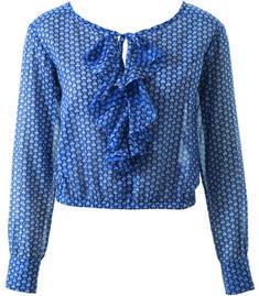Блузка - выкройка № 106 из журнала 3/2014 Burda – выкройки блузок на Burdastyle.ru