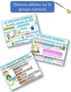Le groupe nominal : diverses affiches