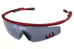 Oakley M Frame Sunglasses Crimson Frame Gray Lens
