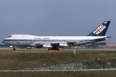 ZRH-Spotter‏ - Flying Tigers Cargo Airlines (seen with Viasa Venezuela cheatline) B747-273C N749WA Dec. 1986