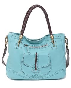 Carla Mancini Leather Front Pocket Tote