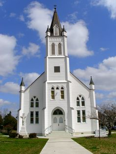 Texas Painted Church -- St. John's in Ammannsville, TX., a small town near…