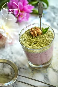 Matcha-vadelmakakut (chiahyytelö) (G, M, V) Omega 3, Matcha, Oatmeal, Sugar, Breakfast, Desserts, Recipes, Food, The Oatmeal