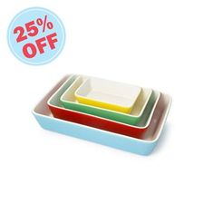 Brighten up cooking with this perfectly practical set of 4 casserole dishes, a different size for every occasion!