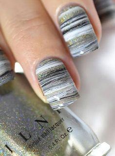 25 Marble Nail Design with Water & Nail Polish 2 - Marble Nails for You - Nagels Marble Nail Designs, Colorful Nail Designs, Nail Art Designs, Nails Design, Tattoo Designs, Nail Piercing, Water Marble Nail Art, Water Nails, Makeup Ideas