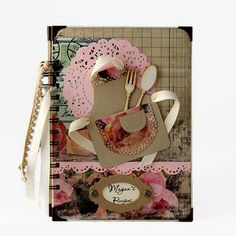 Blank Recipe Book Handmade Personalized by PreciousLifeMoments
