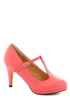 Candy Kickline Heel in Bubblegum | Mod Retro Vintage Heels | ModCloth.com