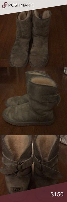 I'm selling very  comfortable gray ugg boots I grew out of the less than a month I only used 3 times UGG Shoes Ankle Boots & Booties