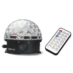 Amazon.com: 12W RGB LED MP3 DJ Club Pub DMX Lighting Disco Party Crystal Magic Ball Stage Effect Light Projector: Home Improvement