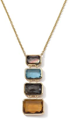 Ippolita 18k Gold Rock Candy Gelato Multi-Stone Necklace | ≼❃≽ @kimludcom
