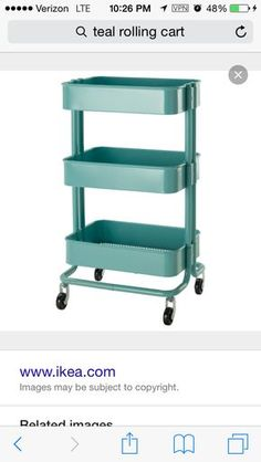 rolling cart. Next to dresser for diapers, etc. / Sams Club, IKEA