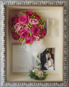 "Collages - Category: Collages - Image: 7. Wedding bouquet and keepsake collage 12""x16"" $764.95"