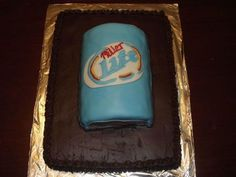Miller Lite Cake.  Will someone make this for my birthday in April?