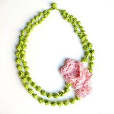 Crochet Necklace , #collana #uncinetto ispirazione