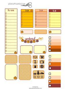Plan with samia | Fall Stickers - Freebie Friday