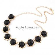 Polygon Shape Black Choker Necklace
