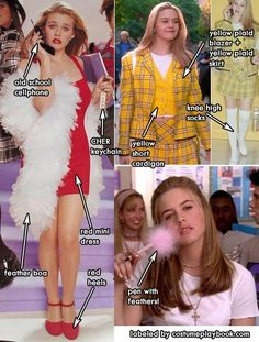 Clueless Outfit Ideas outfits from the movie clueless costume playbook Clueless Outfit Ideas. Here is Clueless Outfit Ideas for you. Clueless Outfit Ideas cher horowitz clueless diy costume idea in 2019 clueless. Cher Clueless Costume, Clueless Outfits, Clueless Fashion, 90s Fashion, Cher Costume, Clueless Quotes, Cher From Clueless, 90s Party Costume, Clueless Style