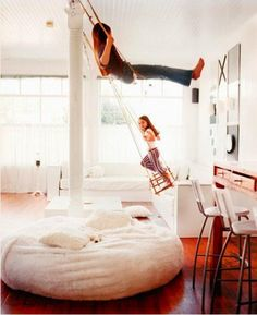 Indoor Swing for Girls Photographed by Melanie Acevedo, Remodelista