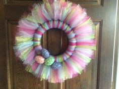 Tulle wreath for Easter