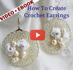 Jewelry tutorial video and eBook: How to Make Wire Crochet Earrings by WireHandmadeJewelry, $9.90 #jewelrymaking