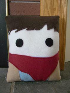 Merlin  pillow,  BBC Merlin inspired decorative pillow. $30.00, via Etsy.