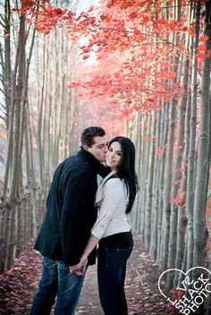 fall engagement session  Love Shack Photo