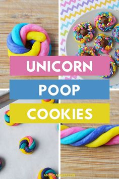 Colorful cookies to make with your little unicorn lovers. People who love unicorns will get a kick out of these sparkly and colorful cookies. With sprinkles and sparkles, what's not to like about these happy cookies? The next time you want to get creative with baking, give these a whirl. #unicorn #cookies #unicornpoop Easy Cookie Recipes, Bar Recipes, Dessert Recipes, Unicorn Poop Cookies, Galaxy Desserts, Fun Food, Good Food, Little Unicorn, Rainbow Sprinkles
