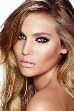 Gorgeous makeup! love her eyes and contouring! Use neutratone.com products to keep your skin healthy and youthful.