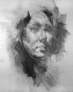 Head sketch 12.01.16. Vine charcoal on paper. Haven't done one of these in a while so I was about due. #charcoal #drawing #charcoaldrawing #figure #figuredrawing #contemporarydrawing #contemporaryfigure #contemporaryfineart #portrait #sketch #portraitstudy #damiangoidich #artistsofinstagram by damian_goidich_art