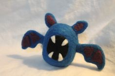 Zoobat pokemon plush made with needle felted wool.