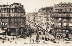 La belle et très chic rue de la Paix, vers 1900  (Paris 2ème)