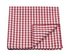 Gingham red pocket square for MC