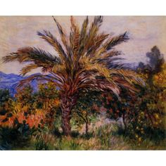 High quality Claude Monet paintings A Palm Tree at Bordighera oil on canvas hand-painted Home decor