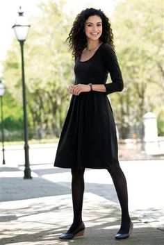 Shop Chadwicks of Boston for our Scoopneck Short Knit Dress. Browse our online catalog for more classic clothing, shoes & accessories to finish your look. Fashion Over 50, Work Fashion, Fashion Outfits, Women's Fashion, Petite Dresses, Classic Outfits, Girly Girl, Casual Dresses For Women, Knit Dress