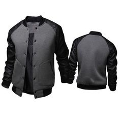 - Mens casual varsity jacket for the fashionable men - Trendy design offers a unique stylish look - Perfect for parties or social gatherings - Made from high quality material - Available in 4 colors