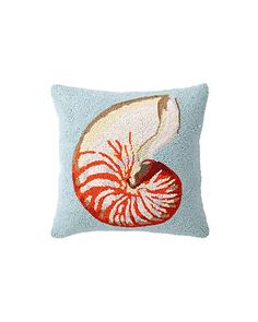 """Some of you have to get in on this: Peking Handicraft """"Nautilus"""" Decorative Pillow"""