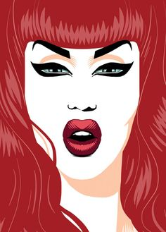 Adore Red Postcard by ChadSellComics on Etsy