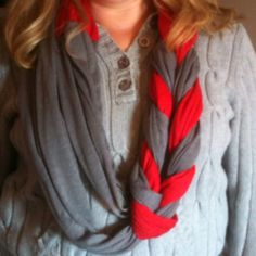 Ohio state scarf cute for the games this year!