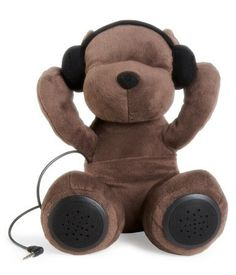 A teddy bear that will play your favorite music: | 28 Cozy Things You Need For Your Bedroom