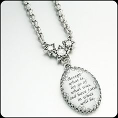 Inspirational Jewelry Quote Pendant Quotes by BlackberryDesigns, $48.00