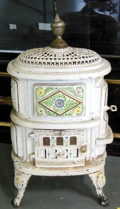 Victorian wood burning stove